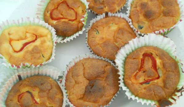 Savory Muffins with Peppers