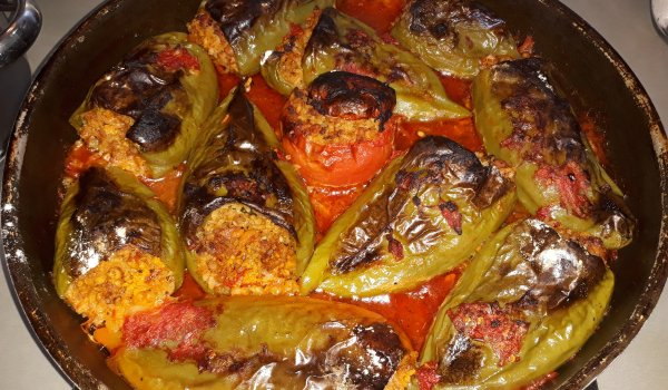 Spectacular Stuffed Peppers with Mince and Rice