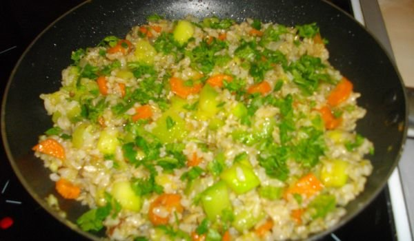 Healthy Risotto with Zucchini and Carrots