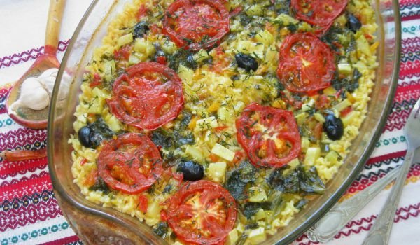 Lean Rice with Zucchini, Tomatoes and Olives