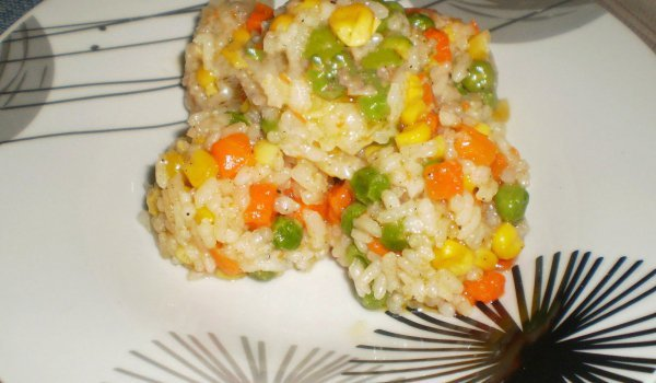 Rice with Smothered Vegetables