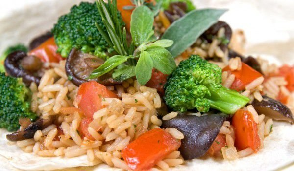 Oven-Baked Rice with Vegetables