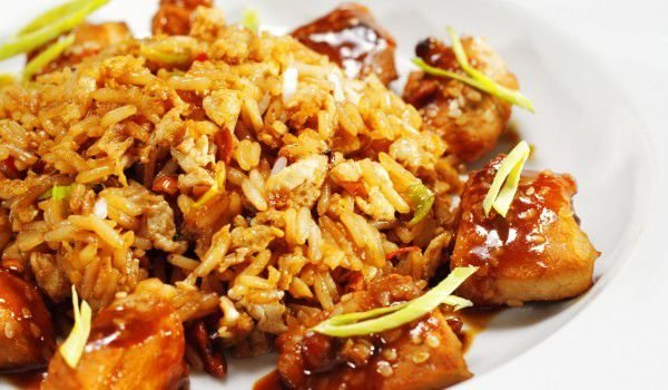 Pork Pieces with Rice