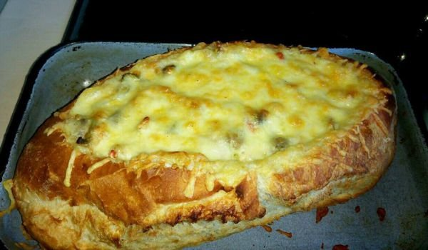 Stuffed Bread with Chicken and Mushrooms