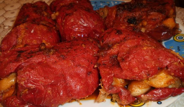Northern-Style Stuffed Peppers with Beans - Maria Simova
