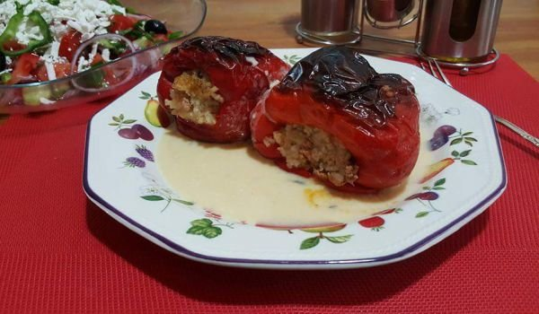 Stuffed Peppers with Dairy Sauce