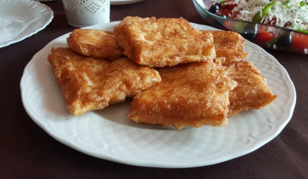 Deep Fried Cheese in Phyllo Pastry Sheets