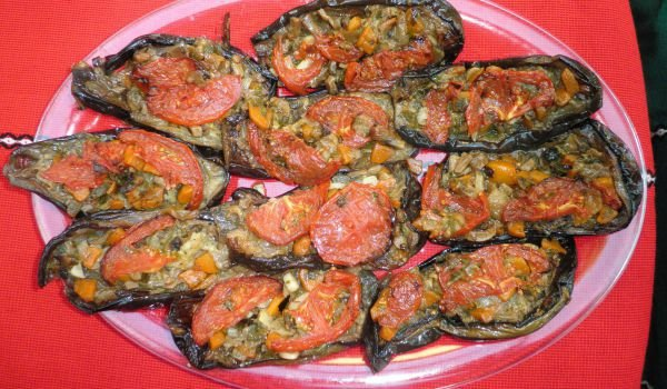 Stuffed Eggplants with Mince and Mushrooms