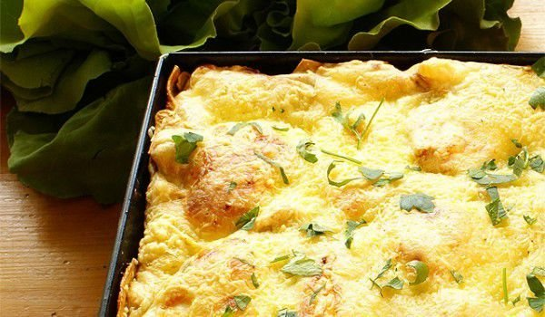 Potato Cake with Ham