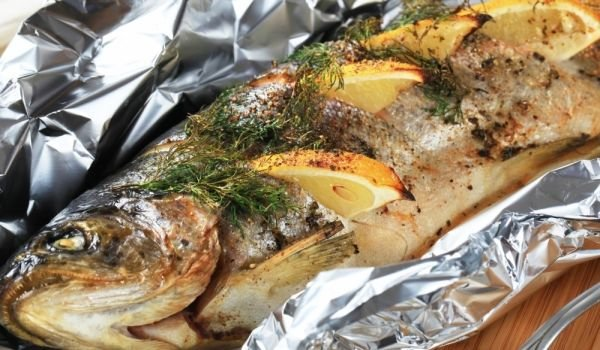 Stuffed Grilled Trout