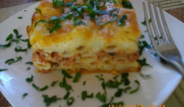 Pastitsio with Mince