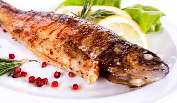 Baked Trout with White Wine