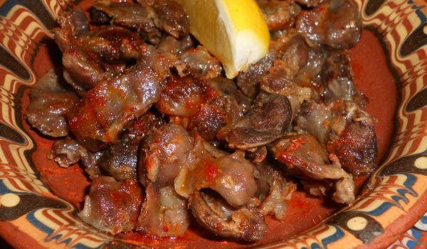 Spicy Chicken Gizzards with Butter