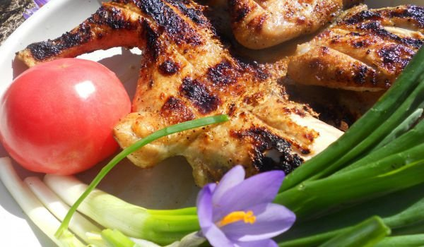 Charcoal-Cooked Spring Chicken