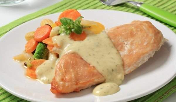 Chicken Fillet with Roquefort Sauce