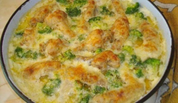 Chicken with Broccoli and Bechamel Sauce