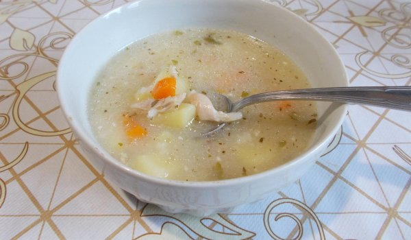 Chicken Soup with Potatoes and Rice