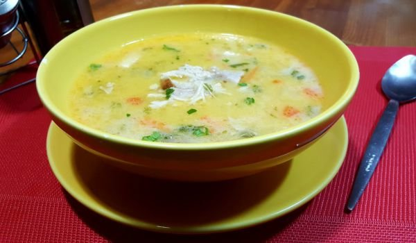 Chicken Soup with Vermicelli and Thickening Agent
