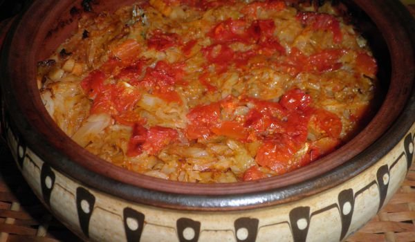 Oven-Baked Meatless Cabbage in a Clay Pot