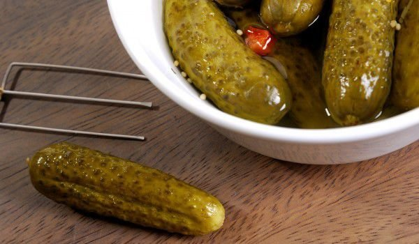 Pickles with Brandy
