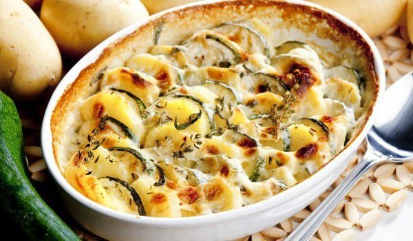Baked Zucchini with Potatoes