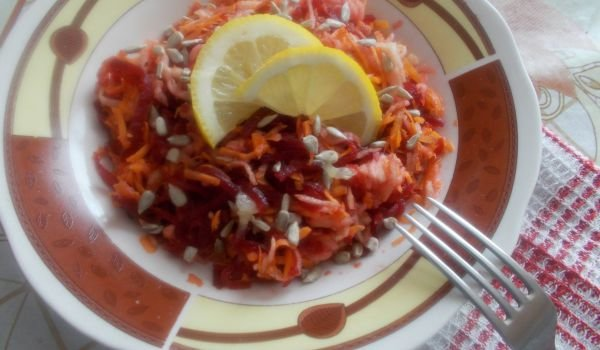 Salad with Beetroots, Apples and Carrots