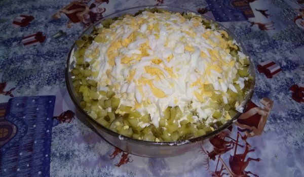 Salad with Grated Potatoes