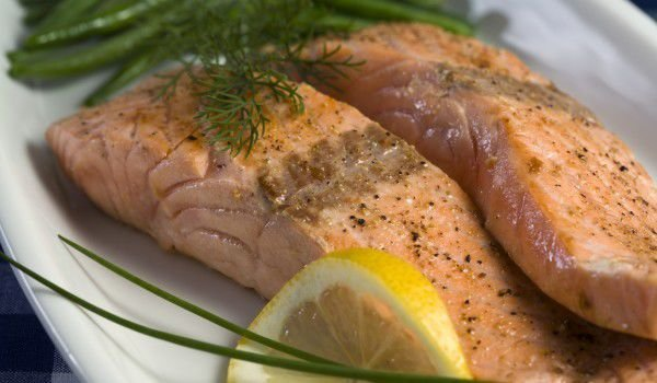 Salmon in a Pan