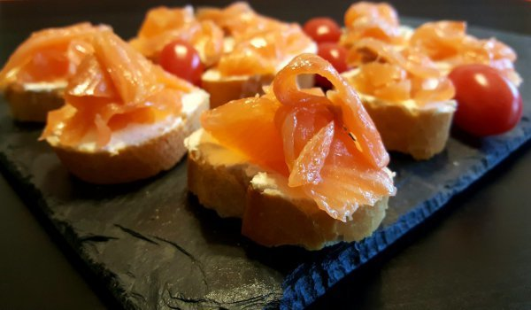 Sandwiches with Smoked Salmon