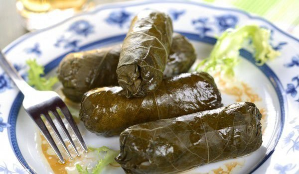 Vine Wraps (Sarma) with Feta Cheese