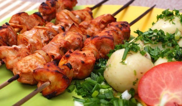 Chicken Fillet Skewers with Bacon