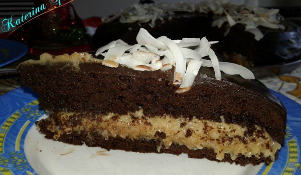 Chocolate Cake with Coconut Cream