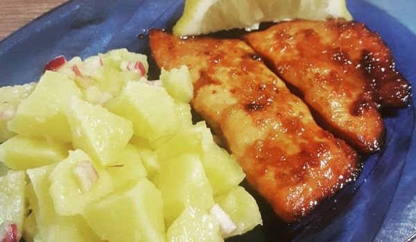 Honey Salmon with Soy Sauce