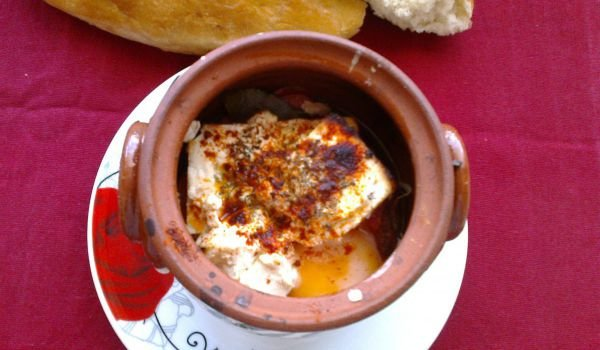 Shopi-Style Feta Cheese in a Clay Pot in 30 Min.