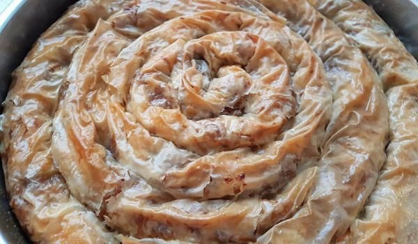 Syruped Phyllo Pastry with Pumpkin