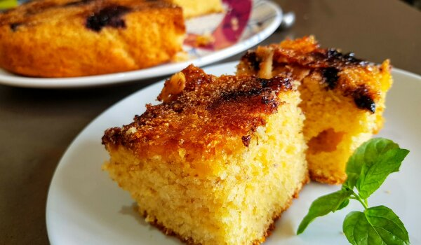 Cake with Two Types of Jam
