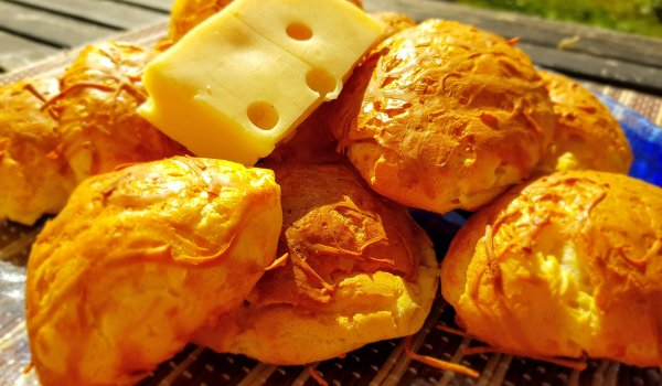 Savory Eclairs with Emmental Cheese
