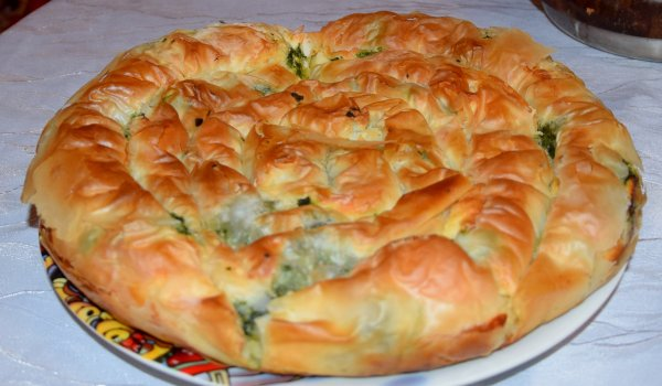 Thessaloniki-Style Phyllo Pastry with Green Onions and Feta