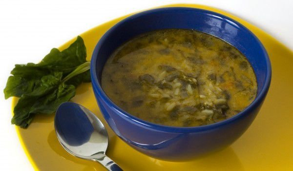 Spinach Soup with Milk
