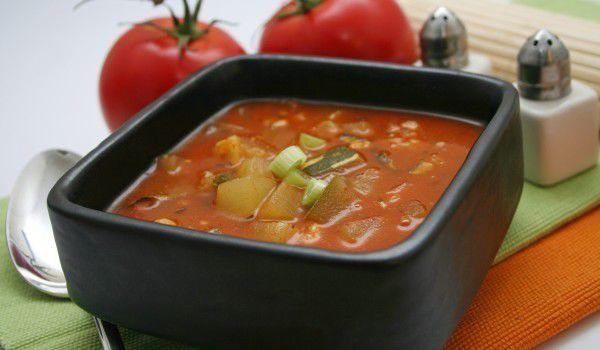 Gazpacho with Mint