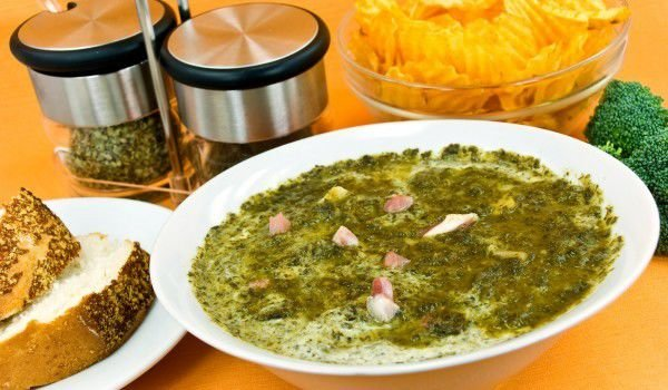 Nettle with Eggs and Feta Cheese