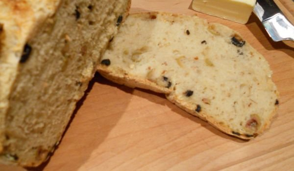 Spanish Bread with Green and Black Olives