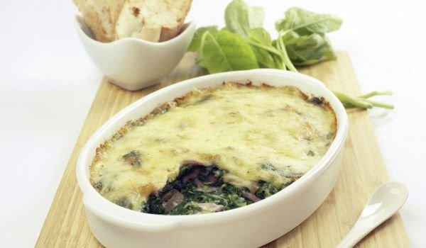Macaroni and Spinach Moussaka