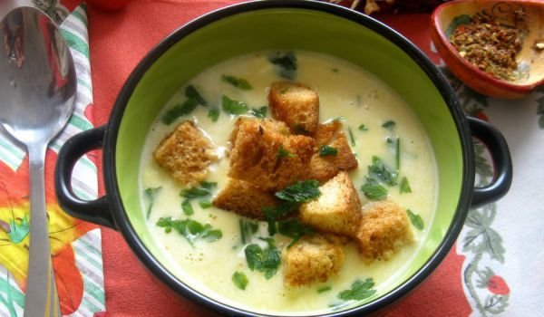 Potato Cream Soup with Cream Cheese