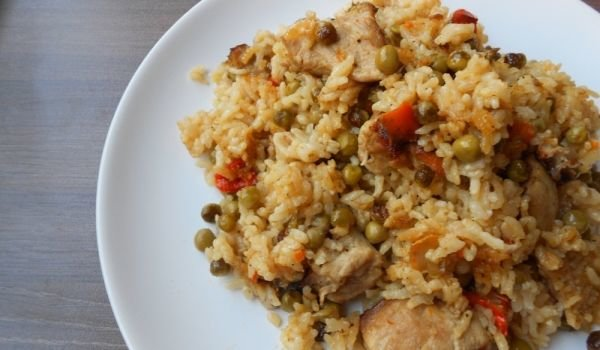 Pork with Peas and Rice