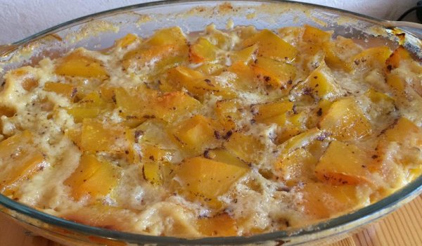 Baked Pumpkin with Topping