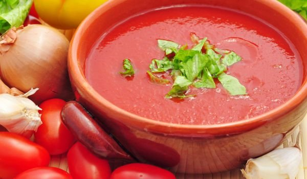 Cold Soup with Tomatoes and Peppers