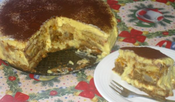 Cake with Cozonac and Coffee