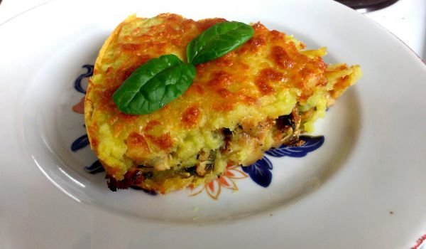 Casserole with Potatoes and Fillet