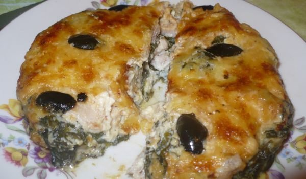 Casserole with Chicken Meat and Spinach